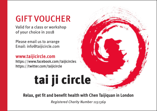 Xmas New Year Or Birthday Gift Buy Your Friend Family Member A Tai Ji Circle Voucher And They Can Come Along To One Three Five Classes